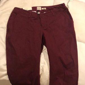 Burgundy soft dress pants